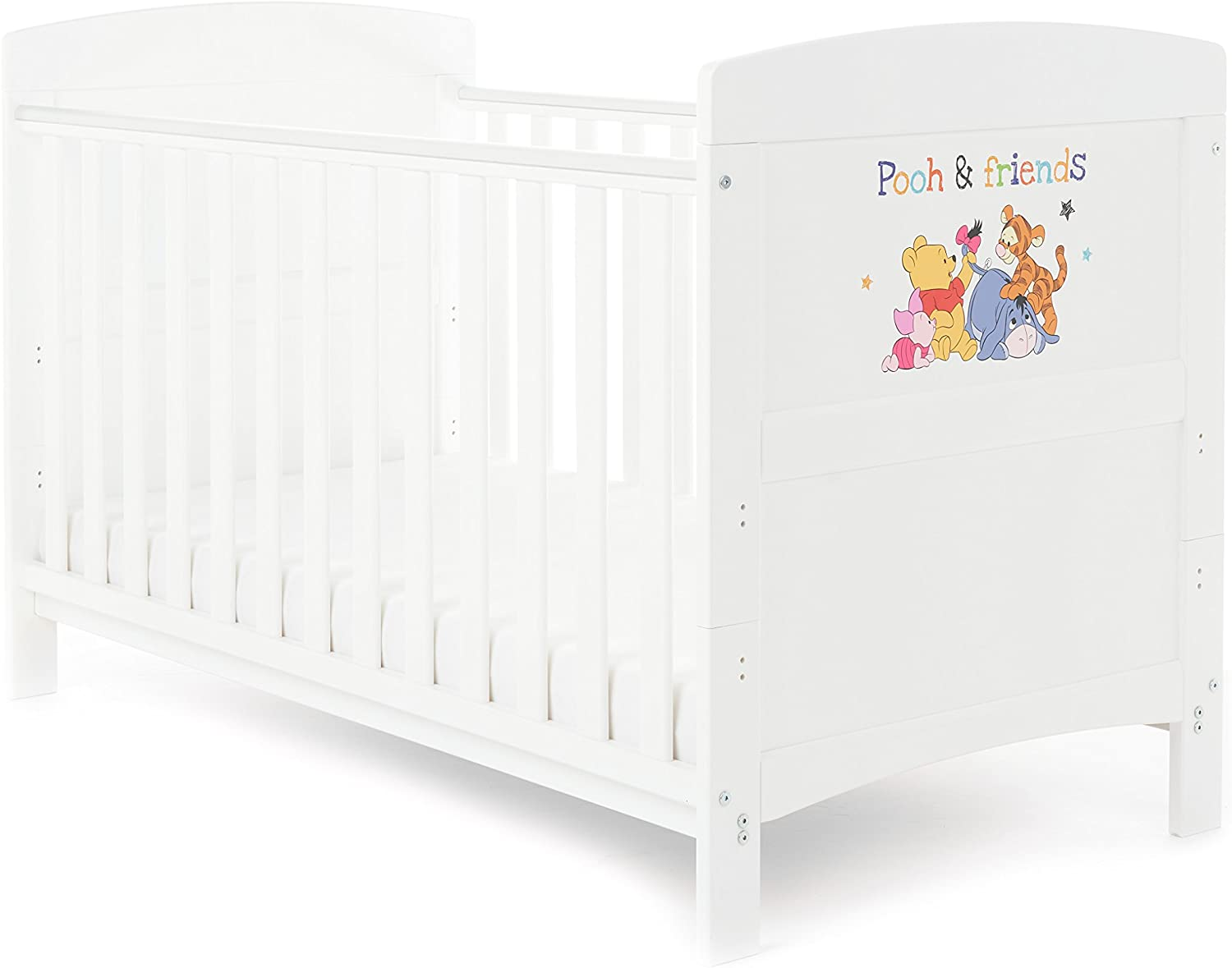 obaby disney cot bed white